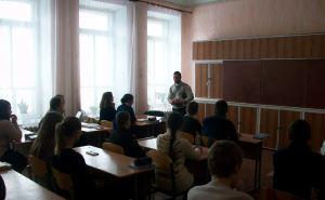 Профориентационные уроки прошли в двух школах Луганска