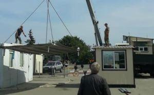На реконструированном КПВВ «Станица Луганская» весь декабрь не работали туалеты. Похожая ситуация на остальныхКП