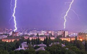 В 7 утра 9мая молния попала в центральную телебашня Луганска. Нанесен серьезный ущерб. ФОТО, ВИДЕО