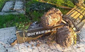 В Лисичанске разрушили памятник погибшим шахтерам