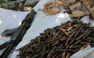 В пригороде Луганска обнаружен тайник с оружием и боеприпасами. ФОТО