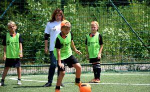 В Счастье футбольная академия «Шахтера» провела мастер-класс для детей. ФОТО