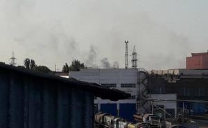 В Мариуполе горел цех меткомбината им. Ильича