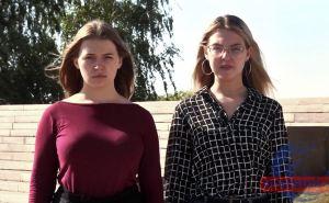 Две молоденькие луганчанки пообещали встретить трех украинских чиновников в Луганске. ВИДЕО