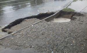 В центре Северодонецка провалилась дорога. ФОТО