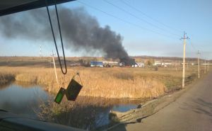 В Луганской области горела АЗС, один человек пострадал