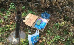 В лесополосе нашли тайник с минометом и большим количеством взрывчатки