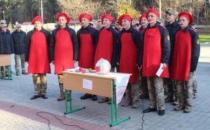 Кадеты Луганского военного лицея соревновались в приготовлении борща