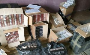 В районе линии разграничения задержали автомобиль с контрафактными сигаретами на миллион гривен