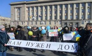 Ни одна семья переселенцев из Луганской области не получит жилья в этом году