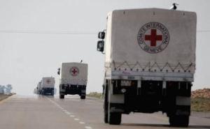 Продуктовые наборы от Красного Креста для жителей  Донбасса