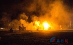 Вчера в Луганске состоялся праздничный салют в честь Парада Победы. ФОТО