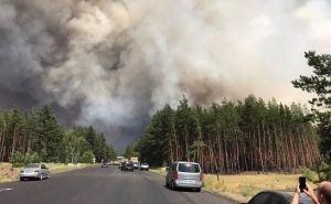 В сети появилось видео дороги в огне— от Новоайдара до Северодонецка