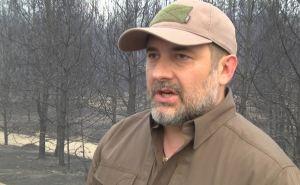 Губернатор Луганщины пообещал, что лесной пожар погасят в ближайшие два дня