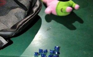 В Лисичанске семейная пара наркокурьеров перевозила наркотики в игрушке своего ребенка