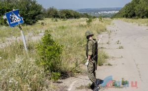В районе строящегося КППВ «Луганск-Счастье» были обнаружены фугасы-ловушки, заложенные еще в 2014 году