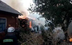 В Луганске сгорел жилой дом