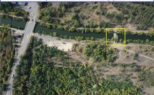 Строительная площадка КППВ в районе Счастья и рядом понтонная переправа ВСУ. ФОТО с беспилотника.