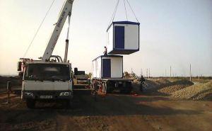 На КПВВ «Луганск-Счастье» и «Первомайск-Золотое» устанавливаются служебные модули. ФОТО