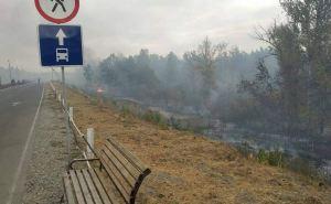 КПВВ «Станица Луганская» временно прекратила работу из-за пожаров и детонации боеприпасов