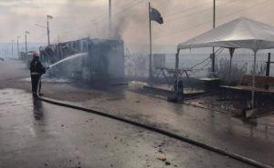 Ситуация с пожарами в районе КПВВ «Станица Луганская» остается опасной