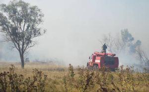 Продолжается борьба с огнем в Станично-Луганском районе