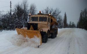 Дороги Луганщины чистят от снега 90 единиц техники