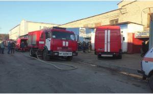 На Центральном рынке Луганска горели склады. ФОТО
