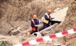 В Алчевске начали сварочные работы на месте порывов магистральных трубопроводов