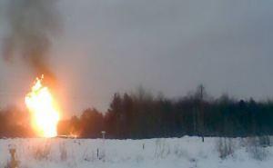 Под Луганском ночью взорвался газопровод высокого давления