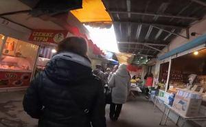 Жительница Луганска сходила на рынок за продуктами: «Что можно купить в Луганске на 1000 рублей». ВИДЕО