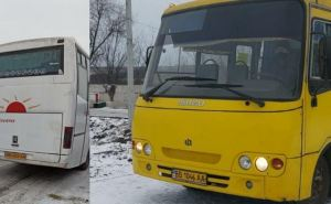На КПВВ в Счастье и Золотом с сегодняшнего дня начали работать автобусы— челноки. ФОТО