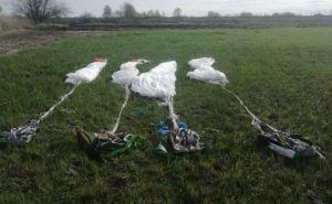 На Луганщине пограничниками обнаружены 4 парашюта вблизи границы сРФ