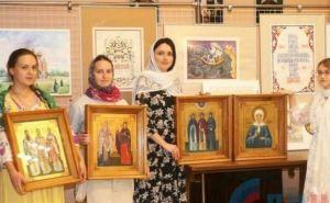 Выставка икон студентов-иконописцев открылась на Троицу в Луганске