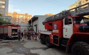 В Луганске горел супермаркет