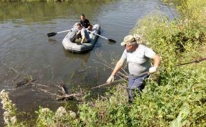 Ликвидирован крупный затор на реке Лугань в районе Малой Вергунки. ФОТО