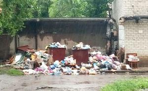 Почему при 40 градусной жаре в Луганске не вывозят мусор