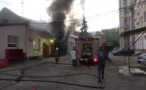 В Луганске горела больница №2. ФОТО