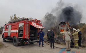 Под Луганском сгорели дачи