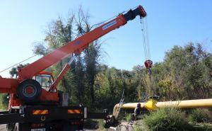 Поврежденный взрывом газопровод в Луганске полностью восстановлен. ФОТО