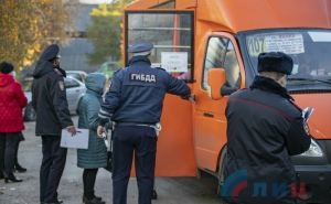 В общественном транспорте Луганска провели облаву на «безмасочников»