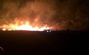 В центре Луганска сильный пожар