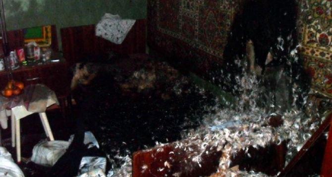 В Стаханове в результате пожара погибла пожилая женщина