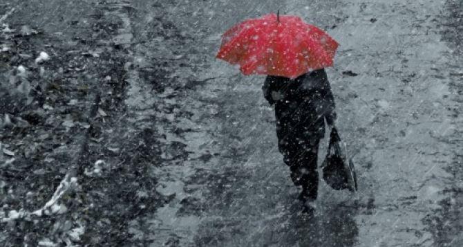 На этой неделе в Украине ожидается мокрый снег и сильный ветер