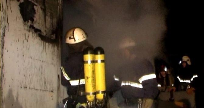 В Луганске произошел пожар в строительном магазине (видео)