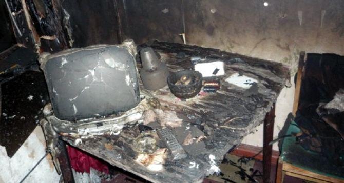 На Луганщине мужчина погиб из-за сигареты