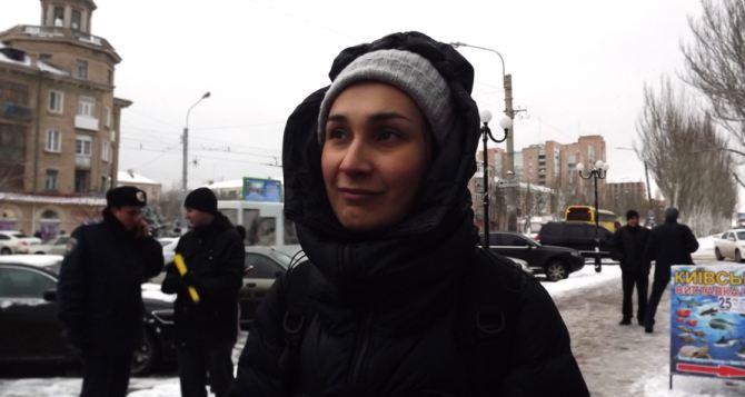 Снег и смелые люди: вокалистка известной украинской группы поделилась впечатлениями о Луганске (видео)