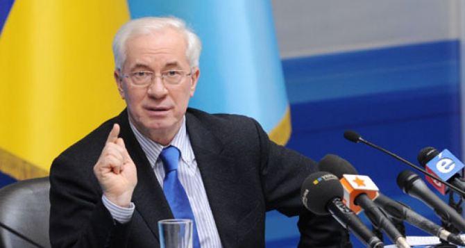 Азаров высказался относительно досрочных выборов президента