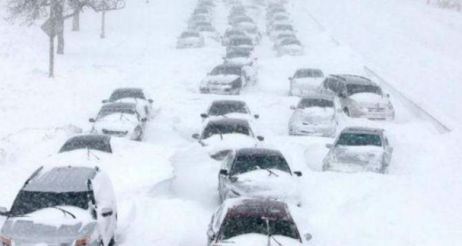 ГАИ города Луганска предупреждает: близятся сильные снегопады и метели