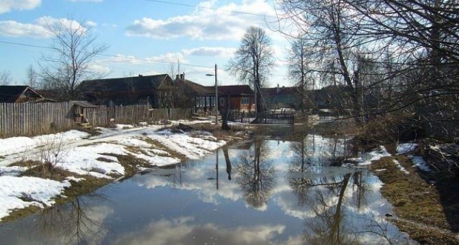 В Луганской области начался паводок